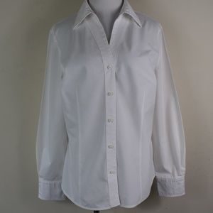 Worthington Stretch Easy Care 12 Button Up Shirt